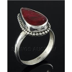 RUBY CORRUNDUM 26.60CTW STERLING SILVER RING