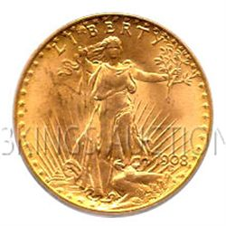 $20 Saint Gaudens Uncirculated Early Gold Bullion