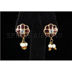 2.22GRAM INDIAN HANDMADE LAKH STUD FASHION EARRING