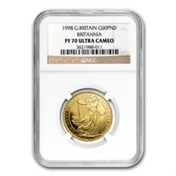1998 1/2 oz Proof Gold Britannia PF-70 UCAM NGC - Regis