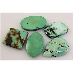 Natural Turquoise 201.30ctw Loose Gemstone 3pc Big Size