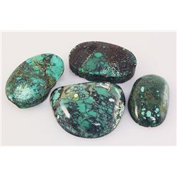Natural Turquoise 237.83ctw Loose Gemstone 4pc Big Size
