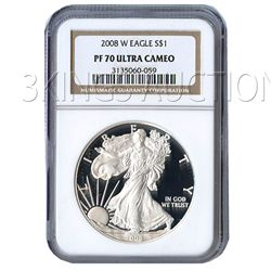 Certified Proof Silver Eagle PF70 2008