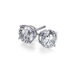 3.00 ctw Round cut Diamond Stud Earrings I-J, SI2