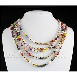485.00CTW Multi Color Freshwater Pearl Necklace