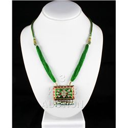 22.18GRAM INDIAN HANDMADE LAKH FASHION NECKLACE