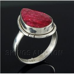 RUBY CORRUNDUM 21.07CTW STERLING SILVER RING