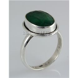 EMERALD BERYL 26.72CTW STERLING SILVER RING