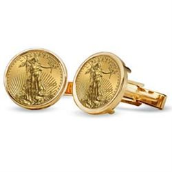 2012 1/10-oz Gold Eagle Cuff Links (Polished Plain) 14K