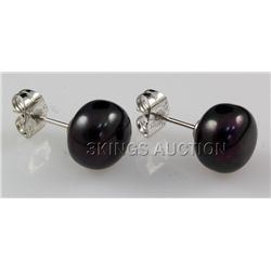15.50CTW BLACK RICE PEARL EARRING PHILIPPINES
