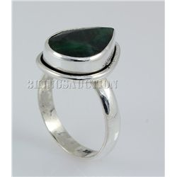 EMERALD BERYL 25.77CTW STERLING SILVER RING