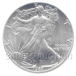 Uncirculated Silver Eagle 1987
