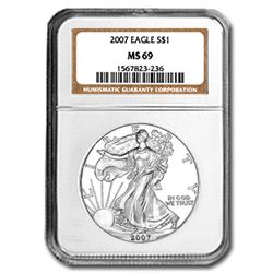 2007 Silver American Eagle (NGC MS-69)