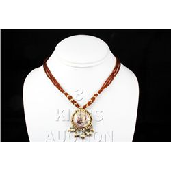 13.70GRAM INDIAN HANDMADE LAKH FASHION NECKLACE