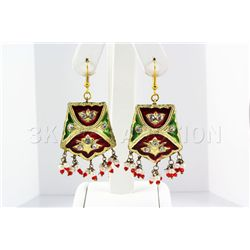 12.60GRAM INDIAN HANDMADE LAKH FASHION EARRING