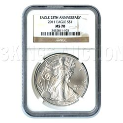Certified Uncirculated Silver Eagle 2011 MS70