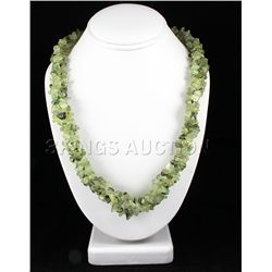 739.00CTW 21in. GREENCHARTREUSE CHIPPED STONE NECKLACE