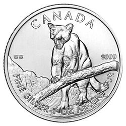 Canadian Silver 1 oz Cougar 2012