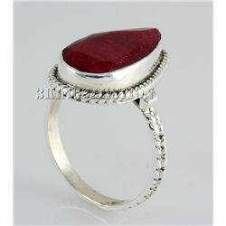 RUBY CORRUNDUM 23.50CTW STERLING SILVER RING