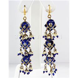 8.65GRAM INDIAN HANDMADE LAKH FASHION EARRING