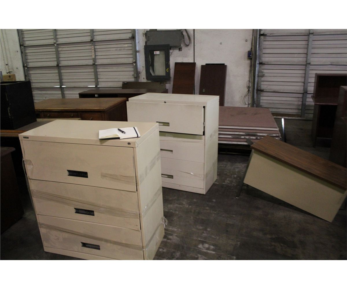 Large Lot Of Office Furniture Able Auctions