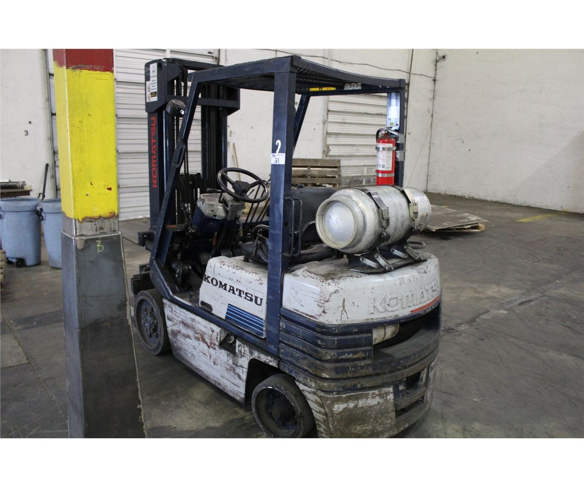 how to start a propane forklift