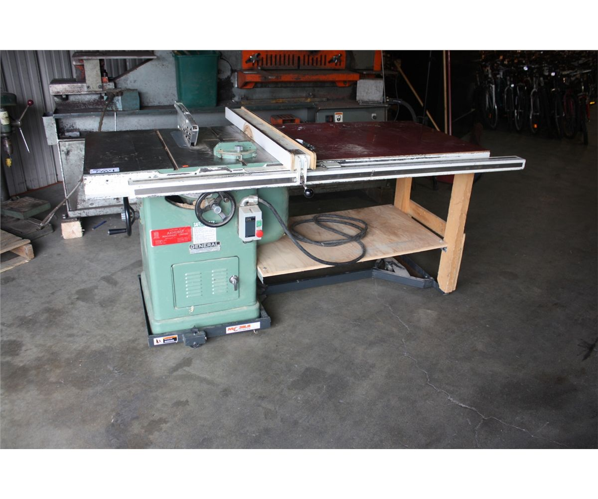 General 250 10 Table Saw With Mobile Base Able Auctions