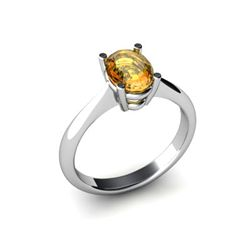 Genuine 2.40 ctw Citrine Ring 14k W/Y Gold