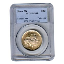 Certified Commemorative Half Dollar Stone Mountain MS65