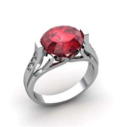 Genuine 6.09 ctw Ruby Ring 18k W/Y Gold