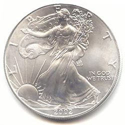 Uncirculated Silver Eagle 2002