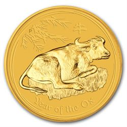2009 1/4 oz Gold Lunar Year of the Ox (Series 2)