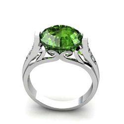 Genuine 5.34 ctw Tourmaline Ring 10k W/Y Gold