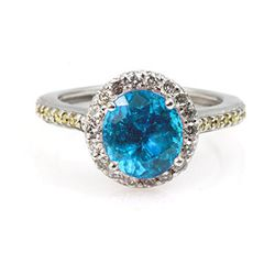 Genuine 1.85 ctw Aqua Marine Ring 14k