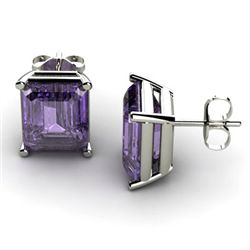 Genuine 11.20 ctw Amethyst Earring 14k W/Y Gold