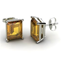 Genuine 11.20 ctw Citrine Earring 14k W/Y Gold