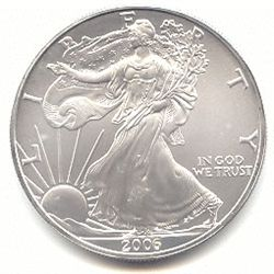 Uncirculated Silver Eagle 2006