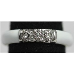WHITE RING WITH CZ