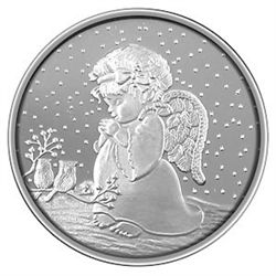 Christmas 2012 Silver Round X-4 Child Angel