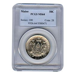 Certified Commemorative Half Dollar Maine MS64 PCGS