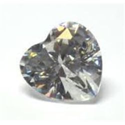 EGL CERT 0.53 CTW HEART DIAMOND H/SI2
