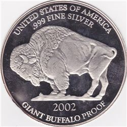 Silver Bullion 1 oz Giant Buffalo Round