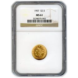 Certified US Gold $2.5 Liberty MS61