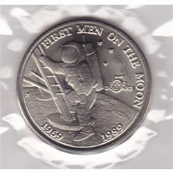 1989 $5 Marshall Islands, 20th Anniversary Moon Landing