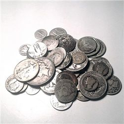 90% Silver Mixed Cull Condition 5 Ounces