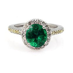 Genuine 2.00 ctw Emerald (Beryl) Ring 14Kt