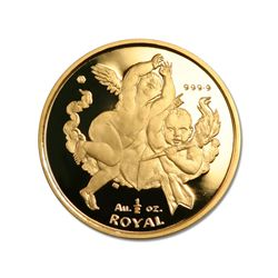 Gibraltar Half Ounce Gold Royal Cherub 2001