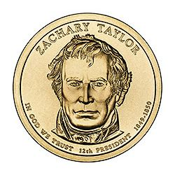 Presidential Dollars Zachary Taylor 2009-P 25 pcs (Roll