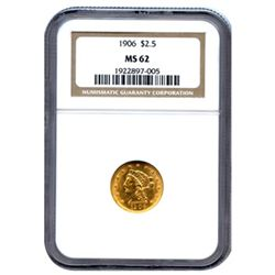 Certified US Gold $2.5 Liberty MS62