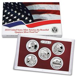 US Proof Set 2010 5pc Silver (Quarters Only) America Th